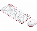 Комплект Logitech MK240 Nano Wireless Keyboard and Mouse Combo Vivid Red Rus (920-008212)